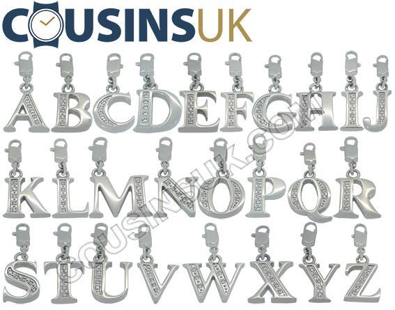 Bracelet Stainless Steel Initials, Swarovski