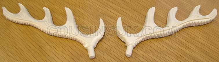 Unfinished, 120mm Wooden Antlers