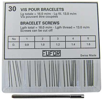 Watch Bracelet Screws, Graded