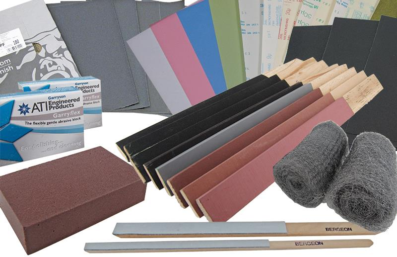 Abrasives: Blocks, Buffs, Discs, Film, Paper & Sticks