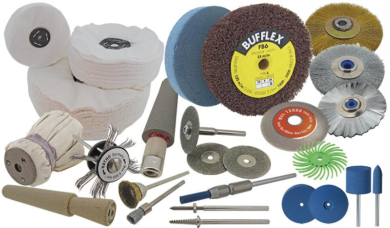 Abrasives: Cones, Mops & Wheels