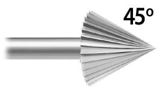 Cone 45° Stone Setting (A*F 119.288) Coarse Serrations, Popular