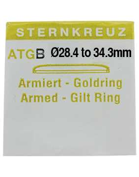 Wide Gold Ringed Glass ATGB