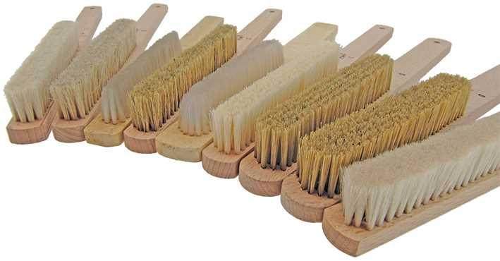 Natural Bristle Brushes, Handheld