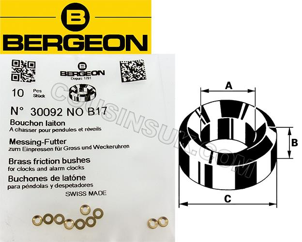 Bergeon 30092, Brass (10 Packs)