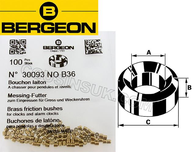 Bergeon 30093, Brass (100 Pack)