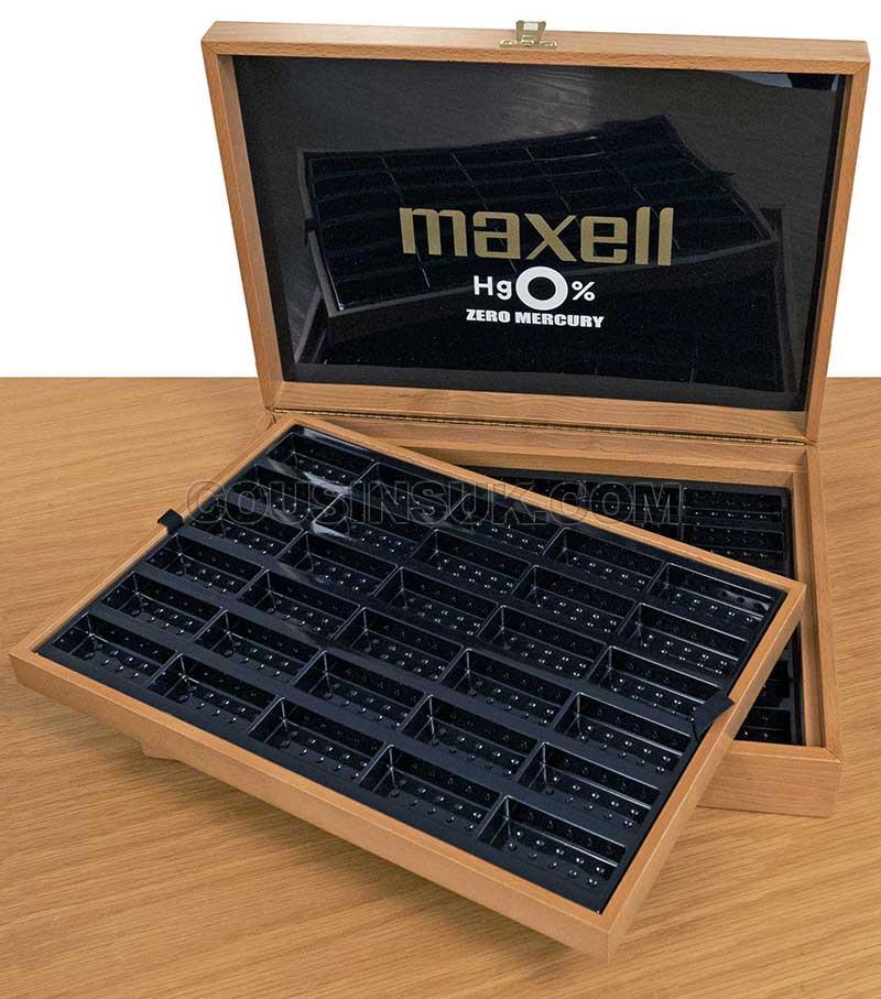 Maxell Display & Storage Wooden Box