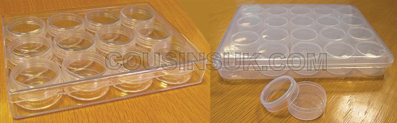 Plastic Pots in Box