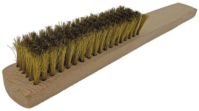 6 Row Brass Brush, German