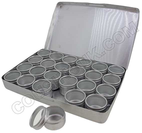 24 Round Compartments, 165 x 135 x 20mm