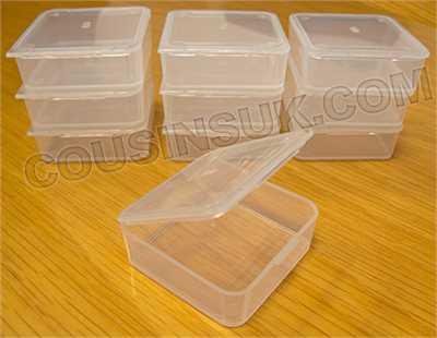 45 x 45 x 13mm Plastic Box