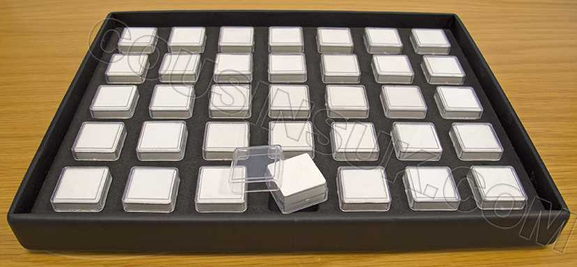 Tray with 35 Boxes (25 x 25mm)