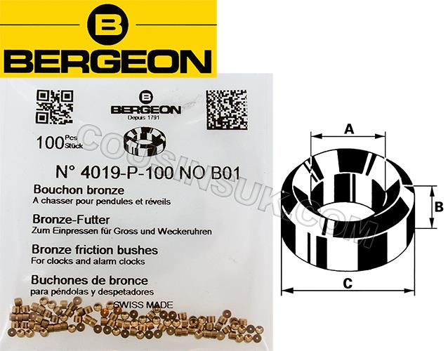 Bergeon 4019, Bronze (100 Packs)