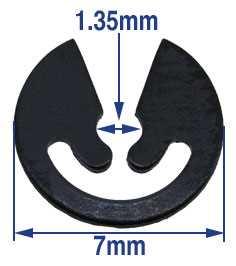 7mm x 1.35mm C-Clip Click Spring