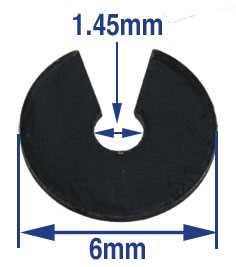 6mm x 1.45mm C-Clip Click Spring