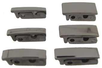 Set of 6 Clasps, Titanium