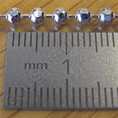 "(6) Ø3.0mm, 22"" (55cm, 12.0g) Bead, Diamond Cut"