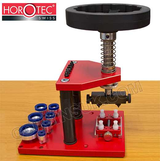 Universal Case Back Tool, Horotec with Suction Dies