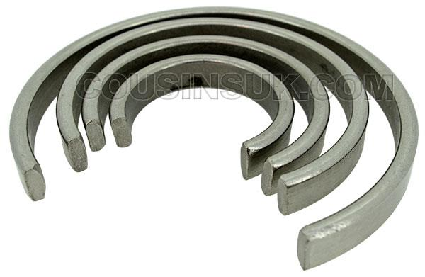 Flat Cross Section Mainspring Containment Rings (Clock)