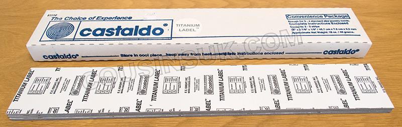 1lb of Titanium Label Strips