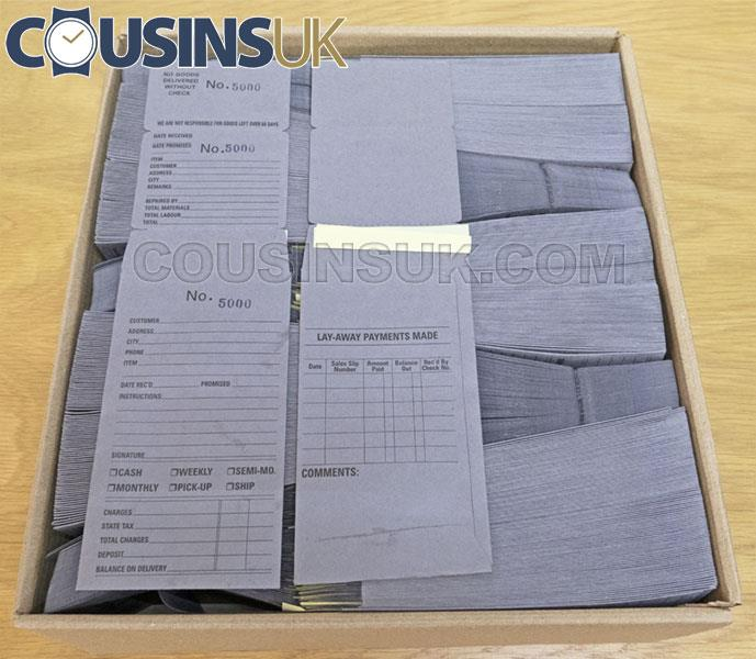 Grey Repair Job Envelopes