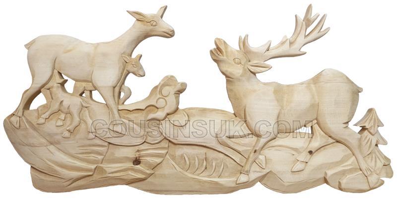 Case Plaque, Deer & Stag (570 x 285mm)