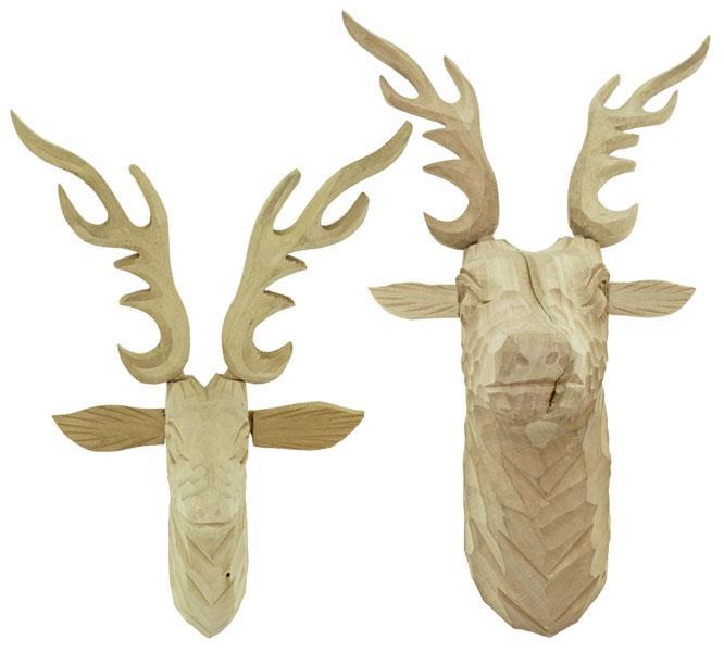 Deer Heads with Antlers