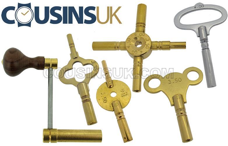 Clock Keys Metric, UK Made