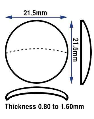 Ø21.5mm (0.80 to 1.60mm Thick)