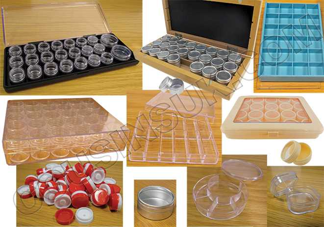 Compartment Boxes, Pots & Tubes