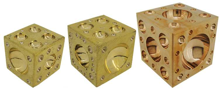 Dapping Cubes, Brass