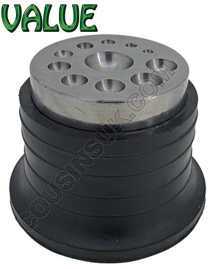 Dapping Disc - Steel, Rubber Mounted