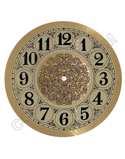 "Arabic Ø260mm (10¼"") Flat, Gold, Ø229mm (9"")"