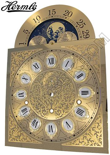 280 x 396mm (Roman Cartouche) with Moon Phase Movable, Hermle 1161