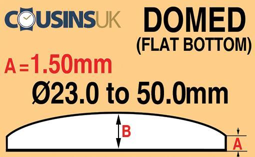 1.50mm, Domed, (Flat Bottom), Cousins