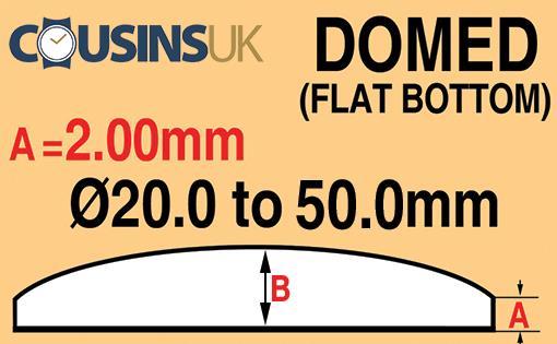 2.00mm, Domed (Flat Bottom), Cousins