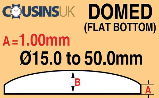 1.00mm Domed (Flat Bottom), Cousins