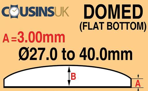 3.00mm, Domed (Flat Bottom), Cousins