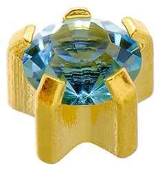 Aquamarine (Regular) Claw Set Studs