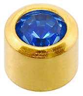 Sapphire (Mini) Bezel Set Studs