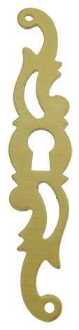 60mm Serpentine Brushed Brass