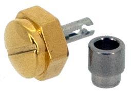 9 x Ø3.50 x 2.30mm (5.00mm), Gold Plated