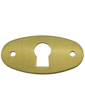 12mm Oval Brushed Brass