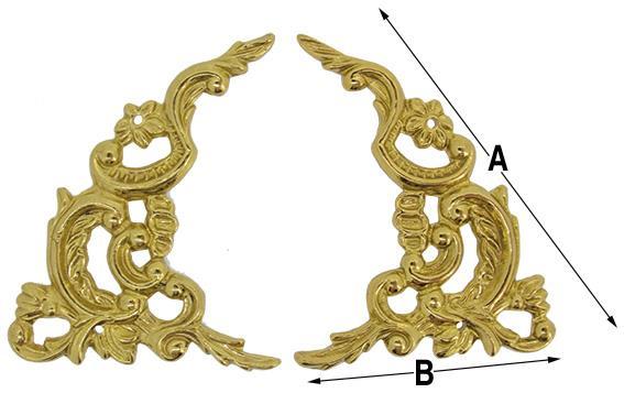 Spandrel, Break Arch 70 x 50mm (Brass) E.U Made