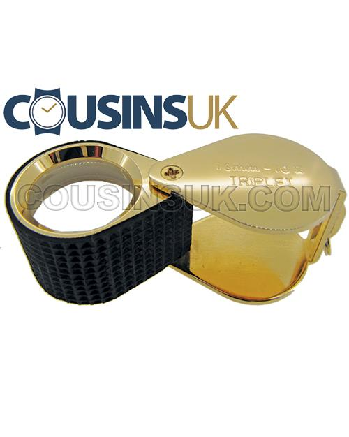 10x Gold With Rubber Loupe