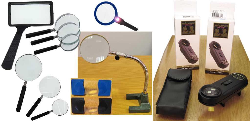 Magnifiers - Hand Held & Bench