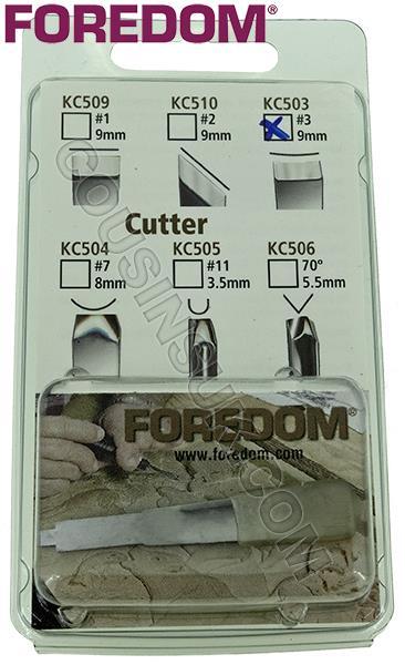 Chisel (Slight Curve, 9mm), Foredom A-KC503