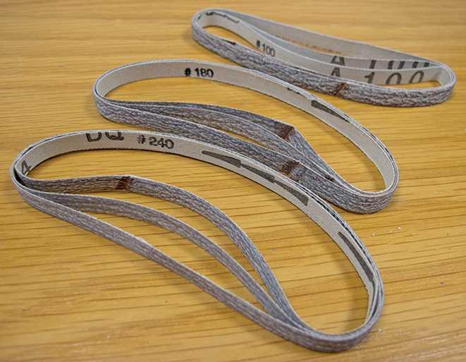 7mm Sanding Belts, Coarse Assortment