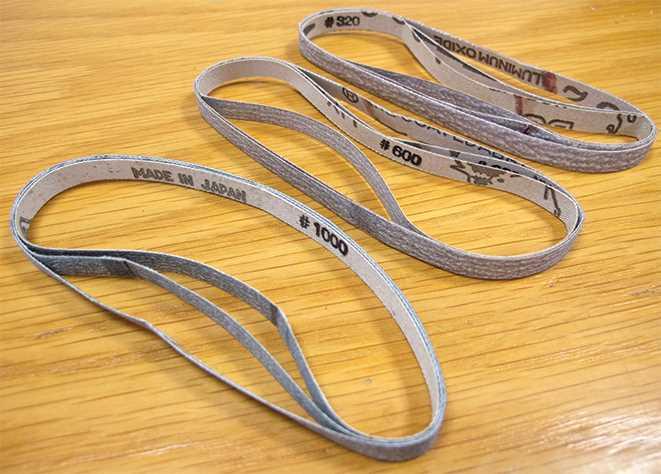 7mm Sanding Belts, Fine Assortment