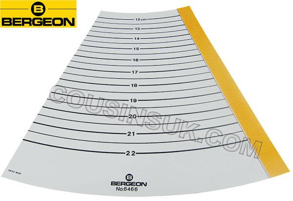 Bangle Diameter & Circumference Gauge, Plastic Paper